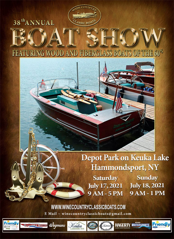 Wine Country Classic Boats 2021 Boat Show Poster